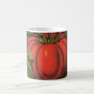 Mug Art vintage d'étiquette de caisse de fruit,
