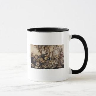 Mug Arthur Rackham | Peter Pan dans des jardins de