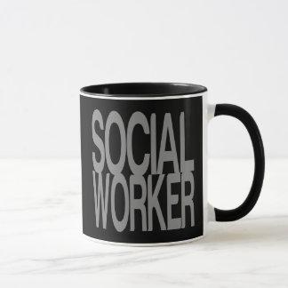 Mug Assistant social en texte argenté grand