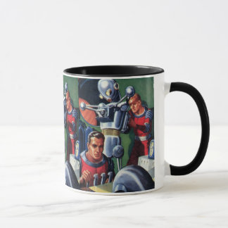 Mug Astronautes vintages de la science-fiction fixant