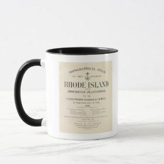 Mug Atlas d'Île de Rhode de page titre