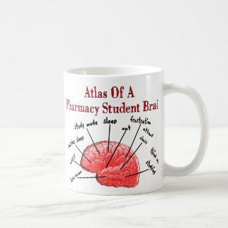 Mug Atlas d'un cerveau d'étudiant de pharmacie