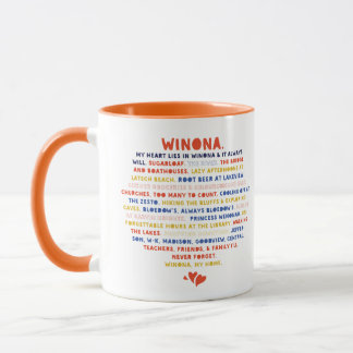 Mug Attaquez mes mensonges de coeur en Winona