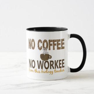 Mug Aucun café aucun professeur de biologie de Workee
