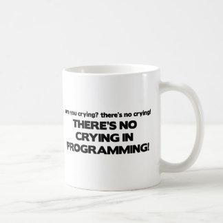 Mug Aucun pleurer dans la programmation