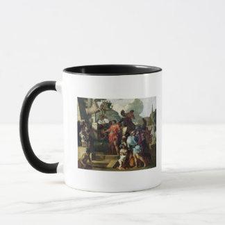 Mug Augustus avant la tombe d'Alexandre III