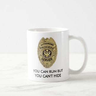 Mug authorizedprocessbadge, VOUS POUVEZ COURIR MAIS