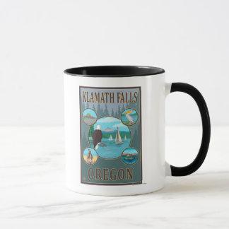 Mug Automnes de Klamath, affiche de voyage