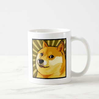 Mug Autoportrait carré de doge de Meme de doge
