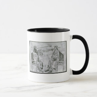 Mug Averroes dans la conversation avec le porphyre