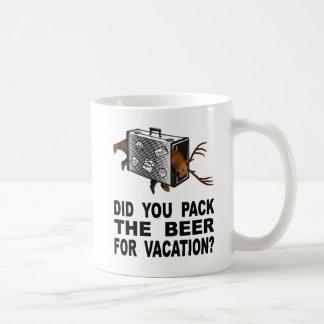 Mug Avez-vous emballé la bière pour des vacances ?