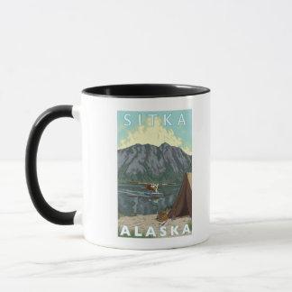 Mug Avion de Bush et pêche - Sitka, Alaska