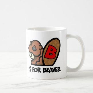 Mug B est pour le castor