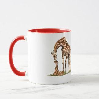 Mug Baisers de girafe et de veau de bébé