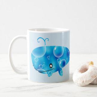 Mug Baleine bleue assez personnalisée