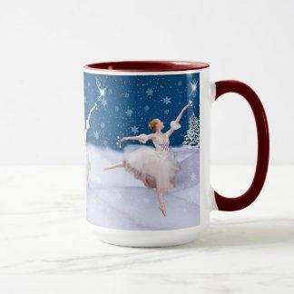 Mug Ballerine de la Reine de neige, étoile, flocons de