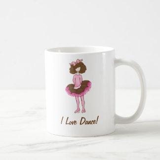 Mug Ballerine mignonne - danseuse rose