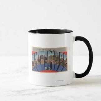 Mug Baltimore, le Maryland - grandes scènes de lettre