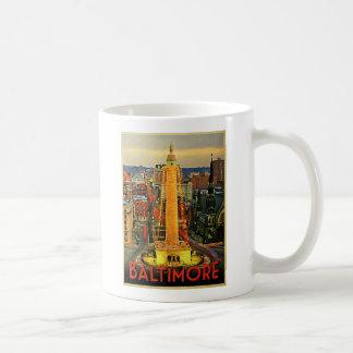 Mug Baltimore vintage au crépuscule