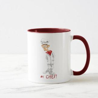 Mug Bande dessinée de chef avec des énonciations