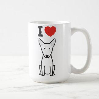 Mug Bande dessinée de chien de bull-terrier