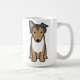 Mug Bande dessinée de chien de colley