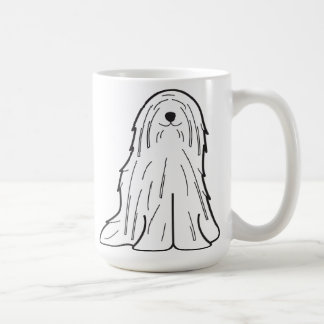 Mug Bande dessinée de chien de Komondor