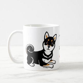 Mug Bande dessinée de chien de Kuro Shiba Inu