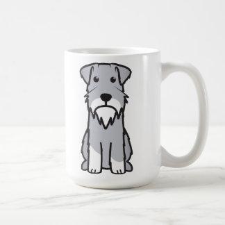 Mug Bande dessinée de chien de Schnauzer miniature