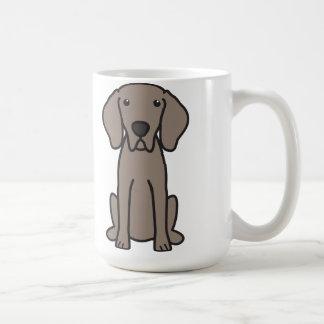 Mug Bande dessinée de chien de Weimaraner