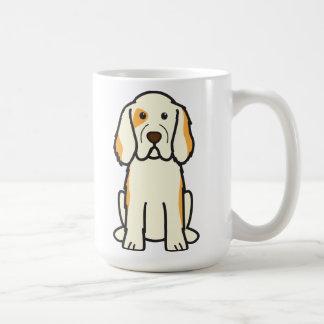 Mug Bande dessinée de chien d'épagneul de Clumber