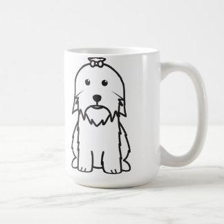 Mug Bande dessinée de chien maltais