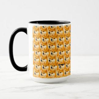 Mug Bande dessinée de doge - texture de doge - shibe -
