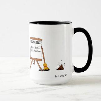 Mug Bande dessinée drôle de cheval de corvées de