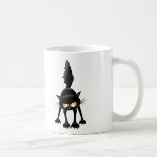 Mug Bande dessinée féroce drôle de chat noir