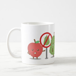 Mug Bande dessinée, fruit défendu, Apple et durian