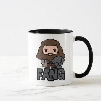 Mug Bande dessinée Hagrid et art de caractère de croc