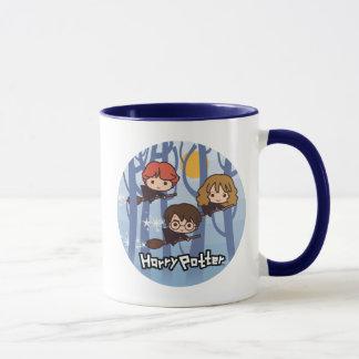 Mug Bande dessinée Harry, Ron, et vol de Hermione en