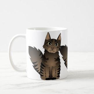 Mug Bande dessinée mignonne de chat de ragondin du