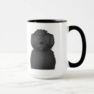 Mug Bande dessinée noire de Labradoodle