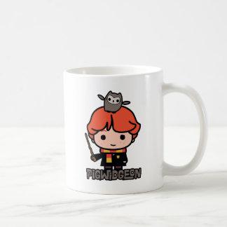 Mug Bande dessinée Ron Weasley et Pigwidgeon