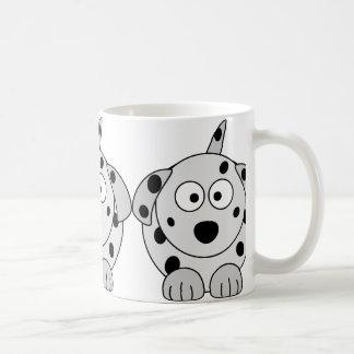 Mug bande dessinée ronde noire dalmatienne