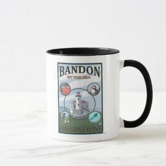 Mug Bandon, affiche de voyage d'OregonScenic