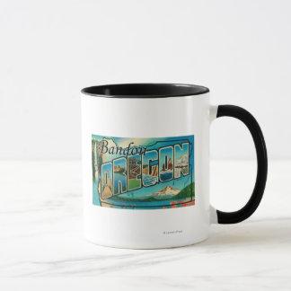 Mug Bandon, lettre ScenesBandon d'OregonLarge, OU
