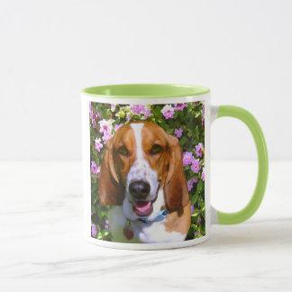 Mug Basset Hound heureux