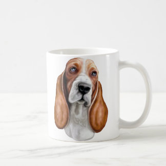 Mug Basset Hound rouge et blanc