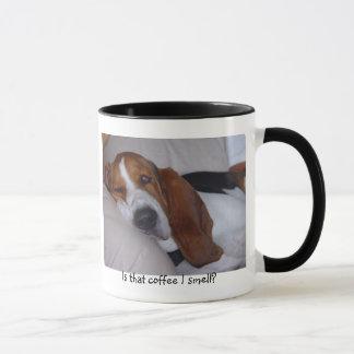 Mug Basset Hound somnolent