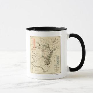 Mug Bataille d'Antietam - carte panoramique 4 de