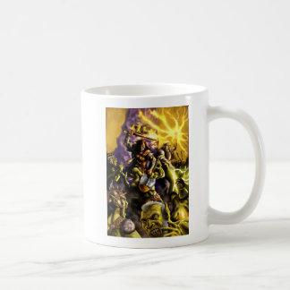 Mug Bataille de caractères d'imaginaire de guerriers