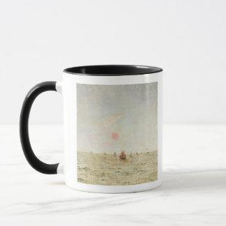 Mug Bateaux au lever de soleil (huile sur le panneau)